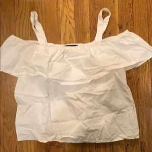 White Off the shoulder Forever 21 Top